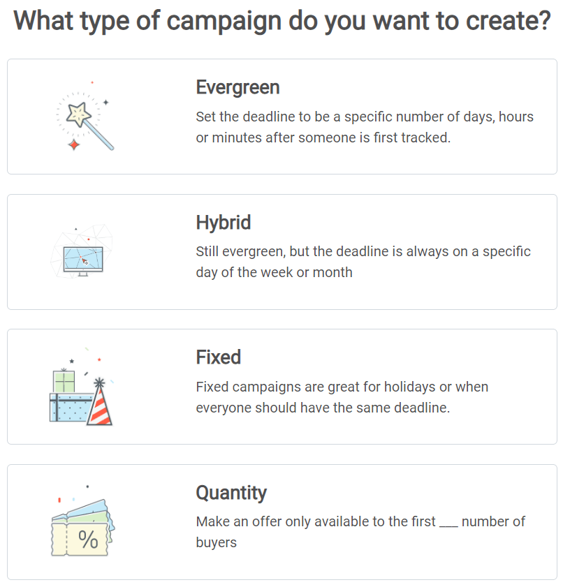 deadline funnel campaigns types